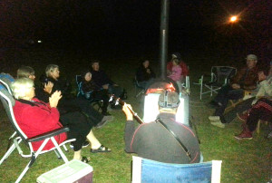 chorus night camp fire