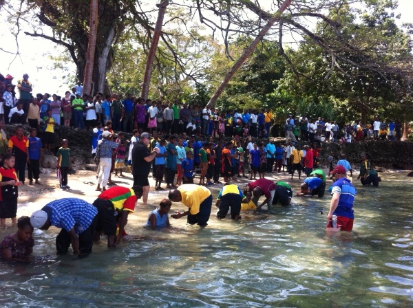 Some of the 37 baptisms