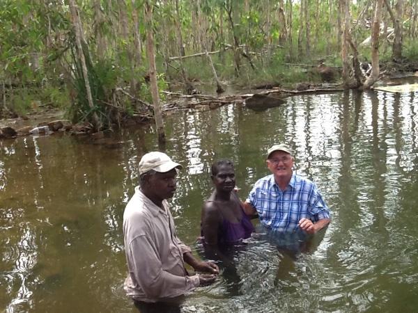 Pastor Tony baptising
