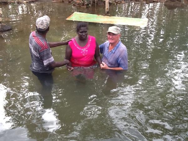 Elizabeth Jenny's sister baptised & received the HS this arvo