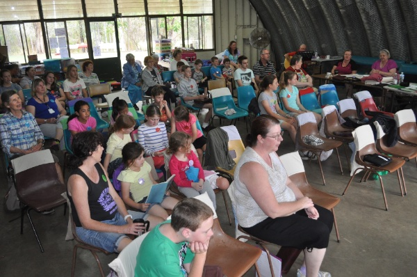 Communion Meeting at Camp