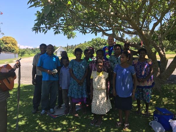 Greetings from Rabaul saints at airport