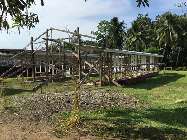 Wewak hall under construction